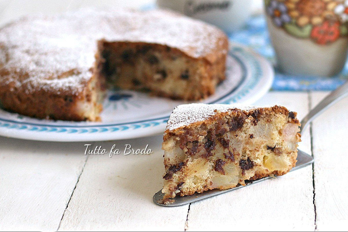 Ricetta Torta Pere E Yogurt Bimby.Torta Alle Pere E Cioccolato Anche Bimby Tutto Fa Brodo In Cucina