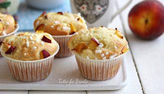 muffin allo yogurt e pesche